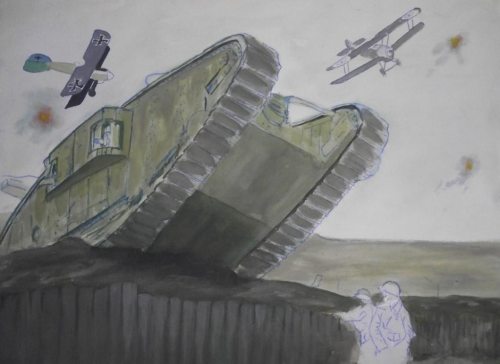 Published January 31, 2013 at 1083 × 791 in Tank attack WW1: telmacarts.com/?attachment_id=300